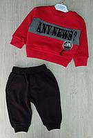 Костюм на мальчика Moes,3-6-9-12 мес, трехнить, any news, красный