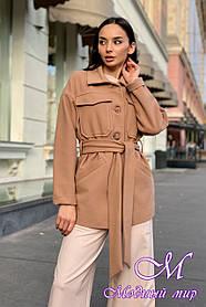 Жіноче демісезонне коротке пальто з кашеміру (р. S, M, L) арт. Е-9030-45356
