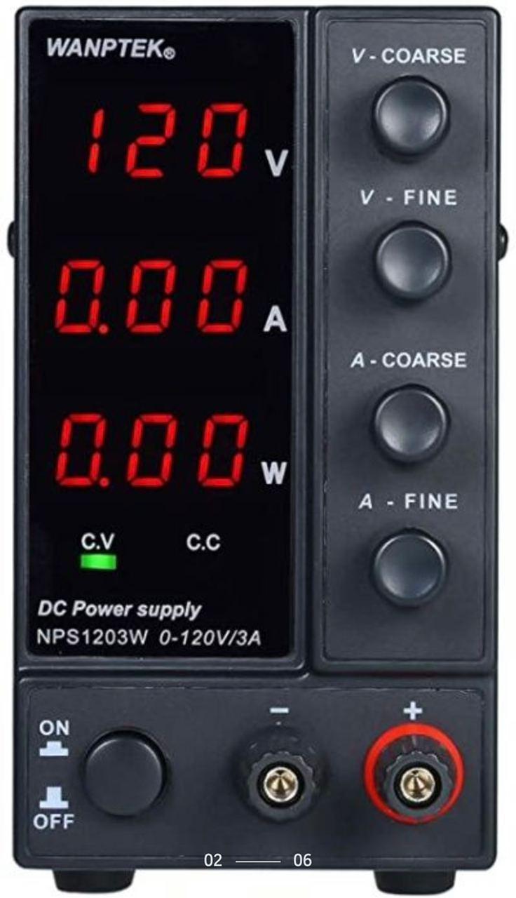 Лабораторный блок питания Wanptek NPS605W 60В 5А 3х разрядный индикатор