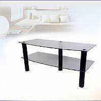 Низкая стеклянная ТВ/АВ-тумба Commus Прима 365 bl (800х345х365)