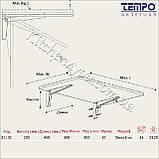 Консоль откидная Tempo 450 мм. черная, для раскладного стола., фото 3
