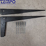 Консоль откидная Tempo 450 мм. черная, для раскладного стола., фото 2