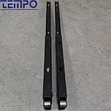 Консоль откидная Tempo 450 мм. черная, для раскладного стола., фото 6