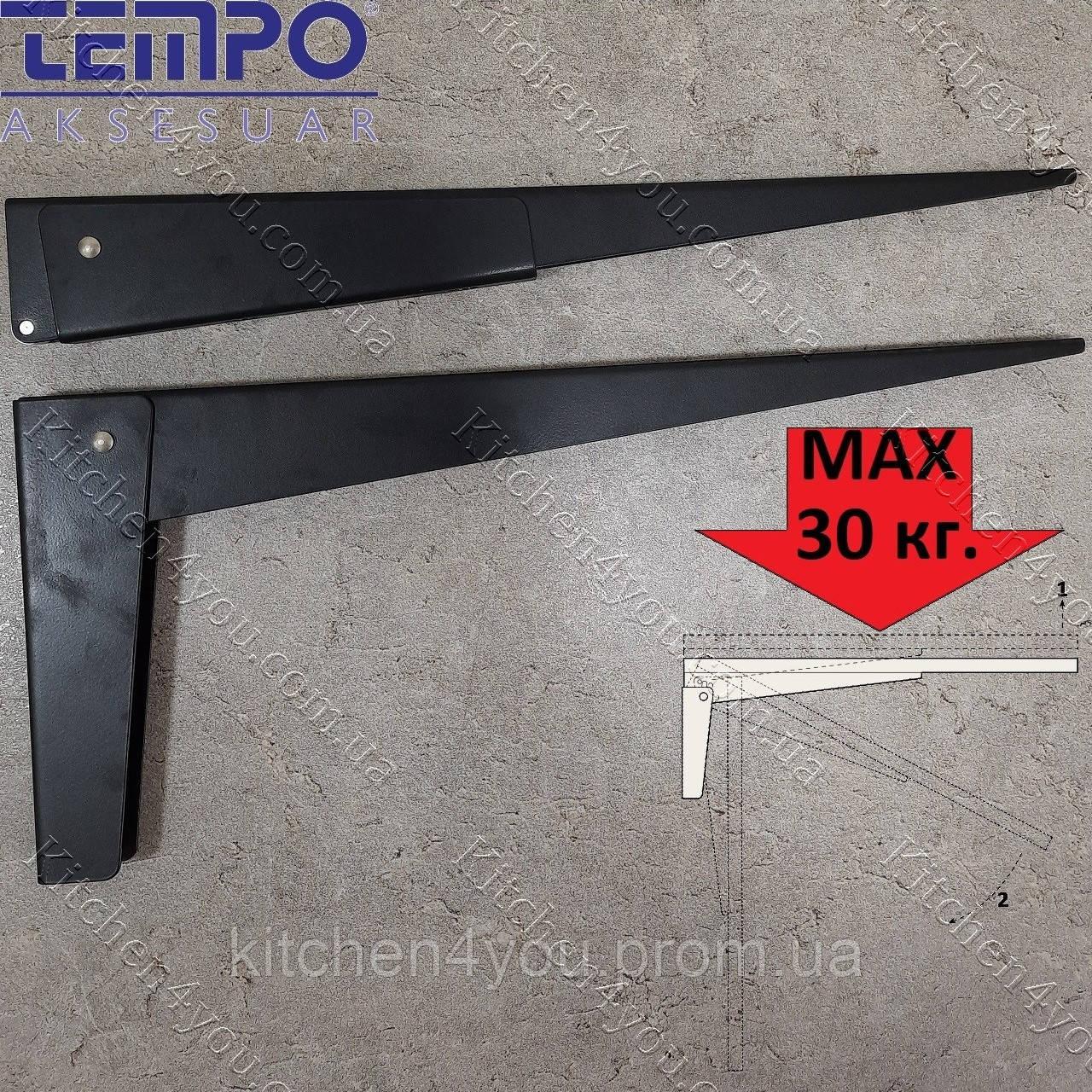 Консоль откидная Tempo 450 мм. черная, для раскладного стола.