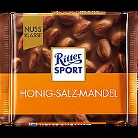 """Шоколад молочный с соленым миндалем и медом """"Ritter Sport"""" 100г"""