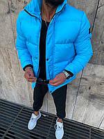 Мужская зимняя куртка голубая 8779-9, фото 1
