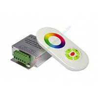Контроллер однозональный  RF RGB 18А White (Touch)
