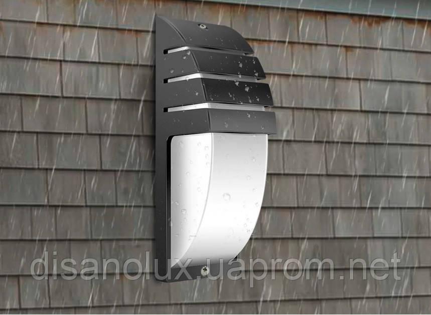 Светильник садово-парковый фасадный WL-2308 LED  8W 3000К  черный  IP65