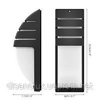Світильник садово-парковий фасадний WL-2308 LED 8W 3000К чорний IP65, фото 3