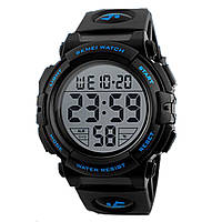 Часы Skmei 1258 BK- Blue Big Size BOX (1258BOXBKBLBS)