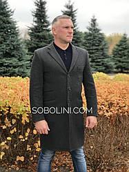 Мужское пальто-тренч, длина 100см