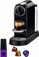 Кофемашина капсульная Nespresso- Citiz Limousine Black+ Дегустационный набор
