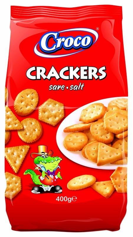 Крекер CROCO CRACKERS солений 400г