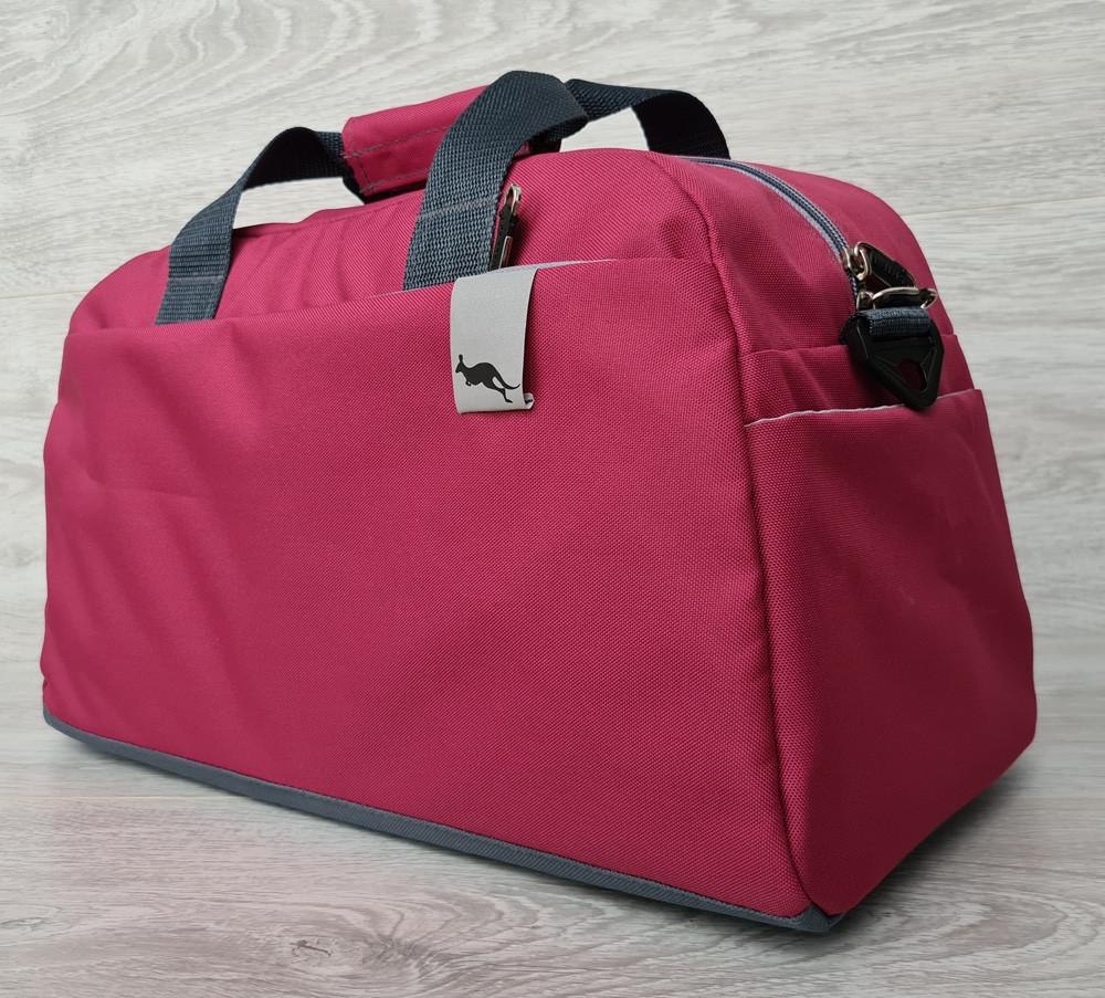 Спортивная женская качественная сумка розового цвета (2151р)