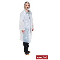 Защитный халат из полиэтилена на кнопках Reis (PFOL ) 123x70 см