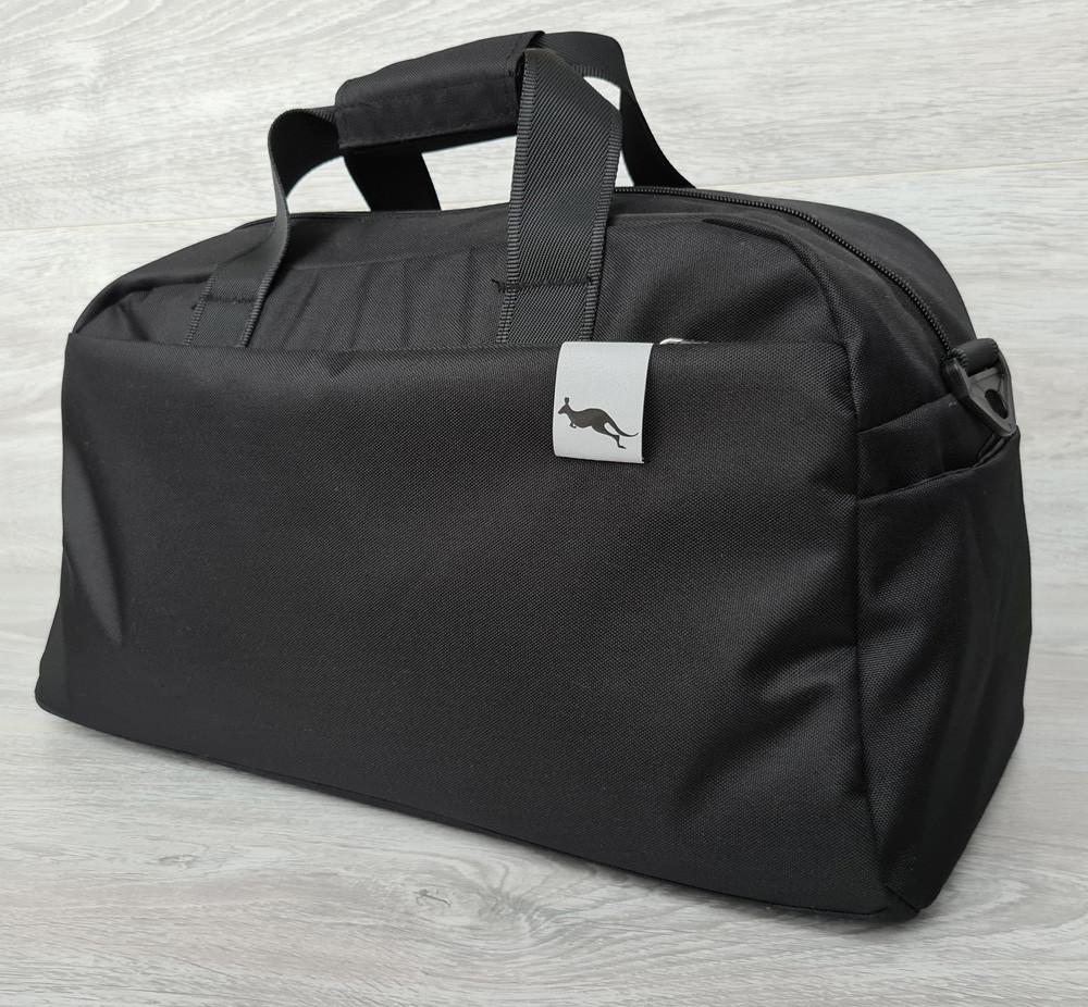 Спортивная вместительная сумка черного цвета (2151ч)