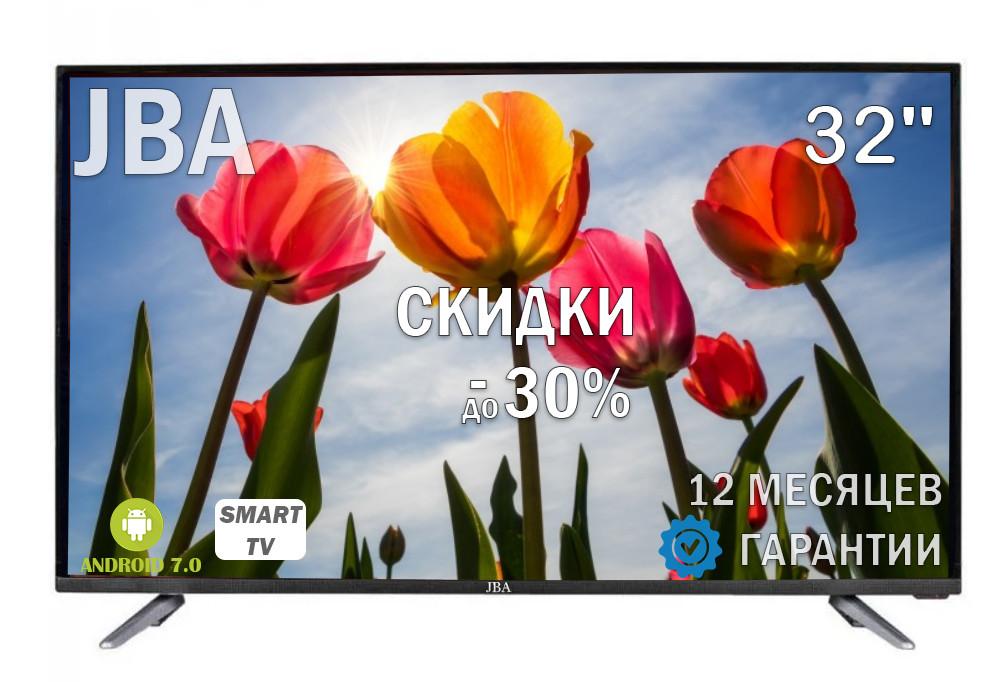 """Телевизор JBA 32"""" I Android 7.0/Smart TV/DVB/T2/FullHD/USB"""