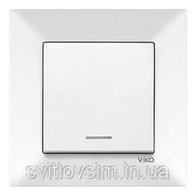 Вимикач VI-KO Meridian білий 1кл з підсвіткою