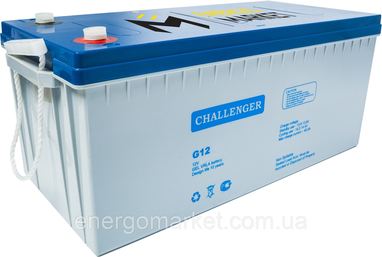 Аккумуляторная батарея Challenger G12-260 GEL (12 В, 255 А*ч)