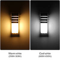 Светильник садово-парковый фасадный WL-2308 LED  8W 3000К  серый IP65, фото 3