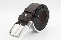 Кожаный удлиненный ремень (БАТАЛ) с классической пряжкой. Grande Pelle., фото 1