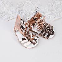 Обувь для кукол Сандали Гладиатор 6.8*3.2 см ЗОЛОТО
