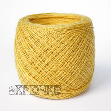 Полушерстяная пряжа для машинного вязания Ярослав, цвет 12 желтый