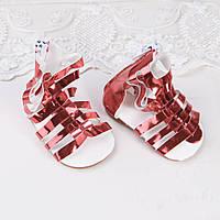 Обувь для кукол Сандали Гладиатор 6.8*3.2 см КРАСНЫЕ