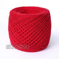 Полушерстяная пряжа для вязания Ярослав, цвет 11 красный оптом