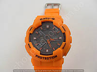 Детские часы Casio Baby G BA-110 3697B (013514) оранжевые с черным водонепроницаемые