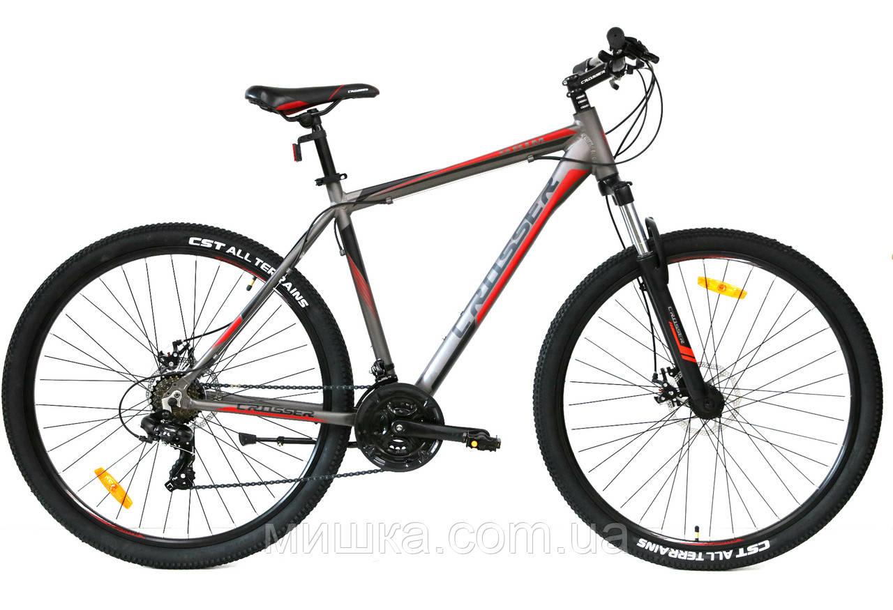 """Велосипед Crosser Grim*19 29"""" горный алюминиевый серый"""