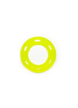 Игрушка для собак FOX кольцо с 6 сторонами желтая, 12 см (с запахом ванили)