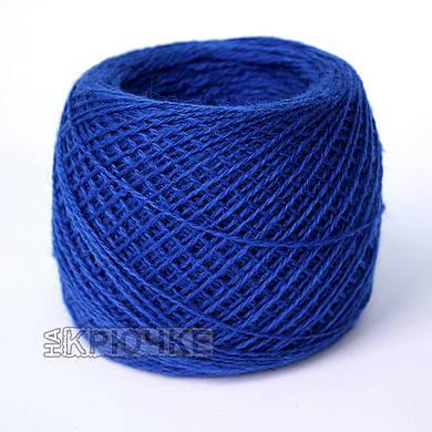 Полушерстяная пряжа для ручного вязания Ярослав, цвет 65 василек
