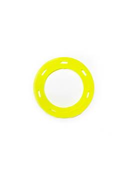 Игрушка для собак FOX кольцо с 6 сторонами желтая, 15 см (с запахом ванили)