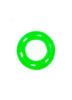 Игрушка для собак FOX кольцо с 6 сторонами зеленая, 12 см (с запахом ванили)