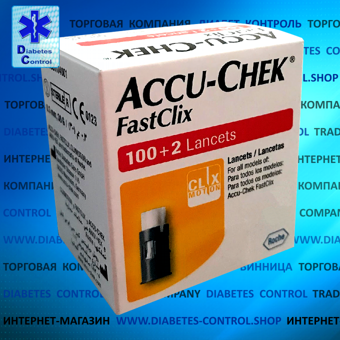 Ланцеты Accu-Chek Fastclix / Акку-Чек Фасткликс, 102 шт.