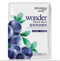 Тканевая маска-салфетка для лица с экстрактом черники BIOAQUA Wonder