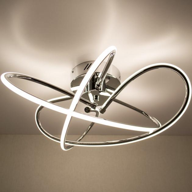Стельовий світильник світлодіодний LUMINARIA LIANA MONO 60W R490 CHROME/OPAL 220V IP20 4000K