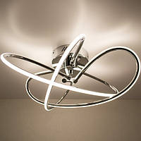 Потолочный светодиодный светильник LUMINARIA LIANA MONO 60W R490 CHROME/OPAL 220V IP20 4000K
