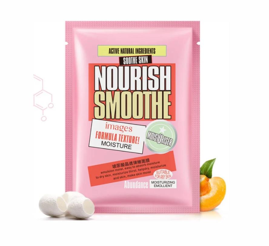 Зволожуюча тканинна маска з протеїнами шовку і персиком Images Peach Nourish Smoothe Mask