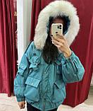 Куртка парку з натуральним хутром, фото 5