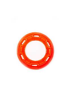 Игрушка для собак FOX кольцо с 6 сторонами оранжевая, 12 см (с запахом ванили)