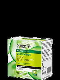 Крем для лица матирующий эффект 50 мл Dr.Sante Cucumber.