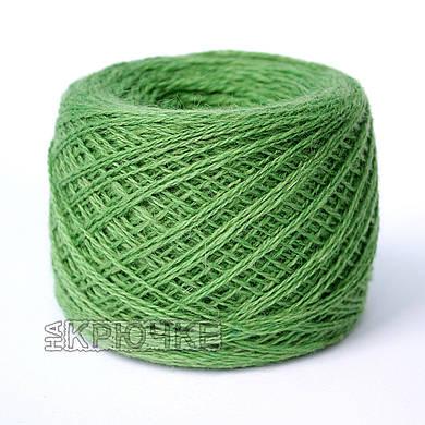 Полушерстяная пряжа для машинного вязания Ярослав, цвет 79 зеленый