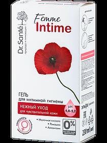 Гель для інтимної гігієни Ніжний догляд для чутливої шкіри 230 мл Dr.Sante Femme Intime.