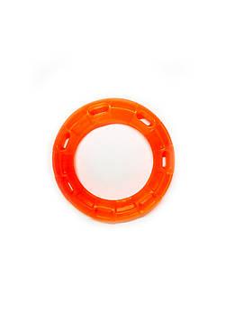 Игрушка для собак FOX кольцо с 6 сторонами оранжевая, 15 см (с запахом ванили)