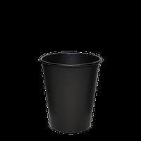 """Одноразовый стакан, серия """"Настроение ЧЁРНЫЙ"""" 250 мл (евро стандарт) 50шт/уп (1ящ/35уп/1750шт) под крышку, фото 1"""
