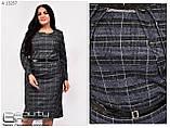 Осіннє жіноче трикотажне плаття розміри 54\56\58\60\62\64, фото 2