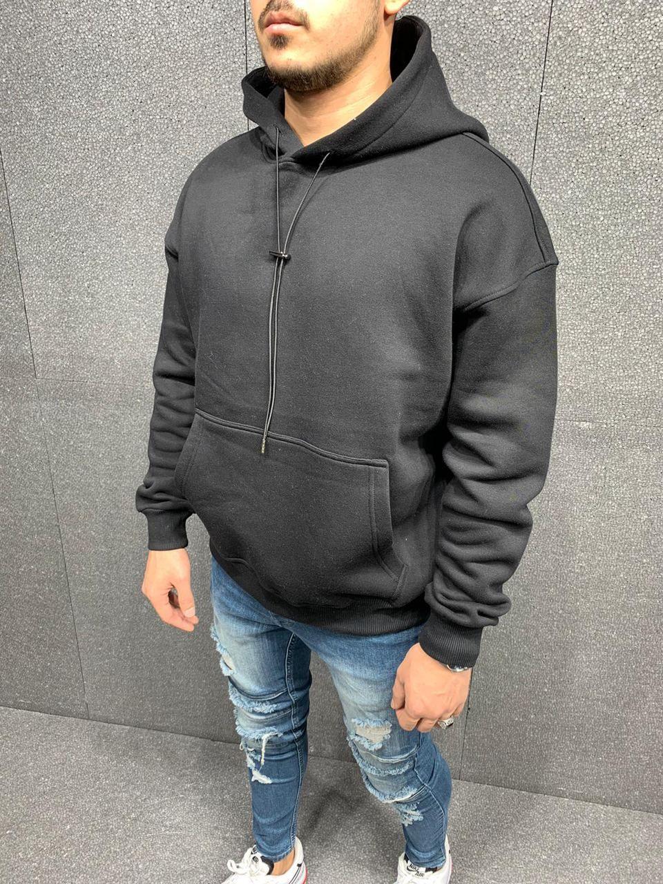 Чоловіче худі на флісі 2Y Premium Black 6024