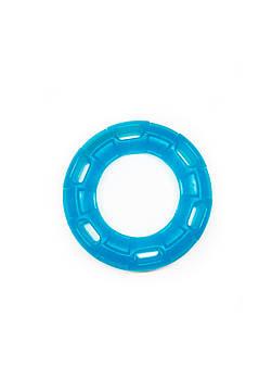 Игрушка для собак FOX кольцо с 6 сторонами синяя, 12 см (с запахом ванили)
